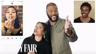 Taraji P. Henson and Tyler Perry Hijack a Stranger's Tinder | Vanity Fair - Video Youtube