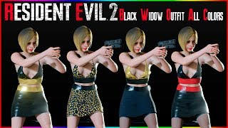 Resident Evil 2 Black Widow Outfit All Colors