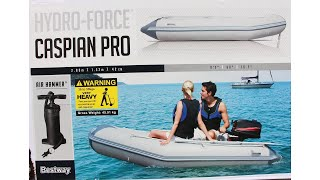 BESTWAY HYDRO-FORCE Caspian Pro Inflatable Dinghy Unboxing & Inflating