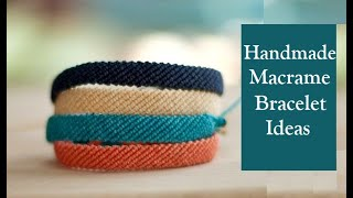 How To Make Macrame Bracelets | Handmade Jewellery Ideas | DIY Thread Bracelet |Creation&you