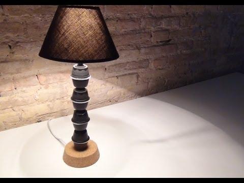 Cómo hacer una lámpara de mesa con cápsulas de café Dolce Gusto.How to make a lamp Coffee Capsules