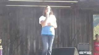 """Amber Sewell singing """"When I Call On Jesus"""""""