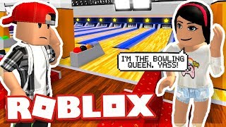 I TOOK MY GIRLFRIEND BOWLING AND SHE GOT IN A FIGHT - ROBLOX ESCAPE THE BOWLING ALLEY OBBY