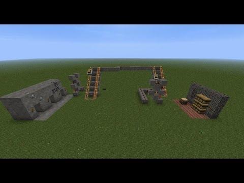 Minecraft Tutorial: Chest Cart Item Transport System