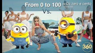 From 0 To 100 Ft. Minions ∞ Da Zero A Cento (Baby K) Minions Cover