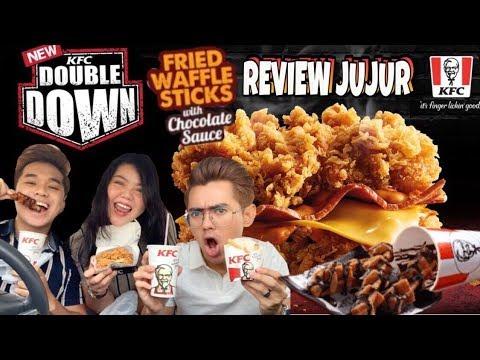 REVIEW JUJUR KFC DOUBLE DOWN & FRIED WAFFLE STICKS. INDAH KHABAR DARI RUPA!