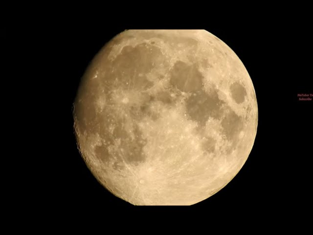 Unedited Real Moon Footage Captured With a Nikon Coolpix P900 by NaTuber Tv