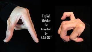 English Alphabet - The Finger Font ABC 英語アルファベット フィンガーフォント