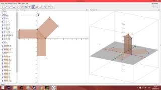 Construction d\'un prisme et de son patron avec Geogebra 3D