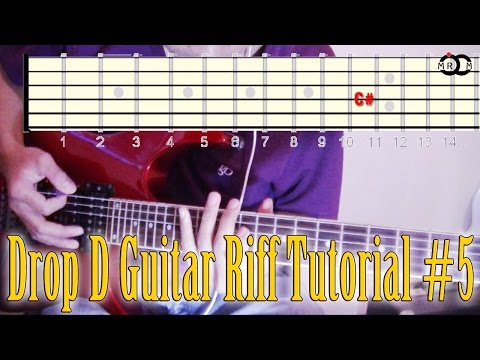 Drop D Guitar Riff Tutorial #5 Mp3