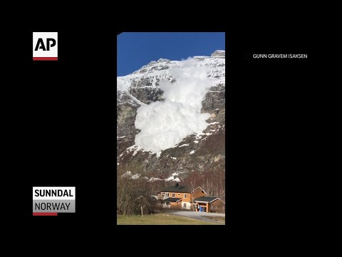 A Norwegian woman showed her quick wits when filming a dramatic avalanche that was cascading down towards her home. (March 6)