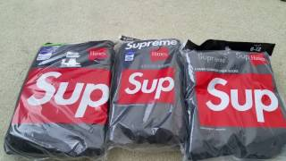Unboxing New Original SUPREME All Black Tee Shirts Boxers & Socks Full HD 2017