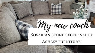 My **NEW** Sectional sofa from Ashley furniture | Bovarian stone 2 peice sectional.