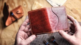 How To Make A Leather Card Case (Free Pattern!)