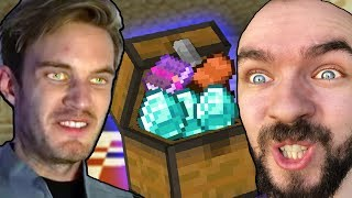 We Found EPIC Treasure In Minecraft w/ Pewdiepie