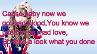 Taylor Swift~ Bad Blood Lyrics~Ft.Kendrick Lemar (Official Lyrics!)
