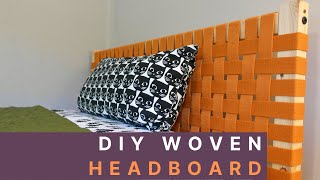 DIY Woven Canvas Headboard