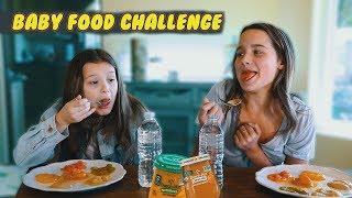 Baby Food Challenge | Hayley LeBlanc & Annie LeBlanc