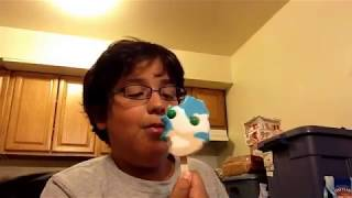 Blue Bunny Sonic The Hedgehog Ice Cream Bar With Gumball Eyes