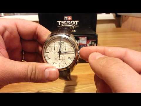 TISSOT T035 работа хронографа и настройка даты и времени