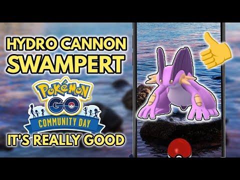 Hydro Cannon Swampert Rocks Pokemon GO | Community Day