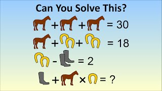 Only A Genius Can Solve Viral Math Problem - The Horse, Horseshoe, Boots Problem