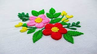 Hand Embroidery Flower Embroidery Design, Easy Embroidery Stitches