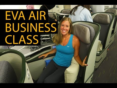 EVA AIR BUSINESS CLASS REVIEW – 777-300er – Amazing First Class Pod Seats!