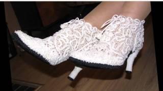 Летняя вязаная обувь для женщин