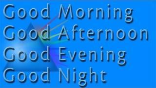 Good Morning Evening Night | Learn British English with Britlish