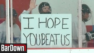 CONFUSING OUR HOCKEY OPPONENTS BY CHEERING FOR THEM