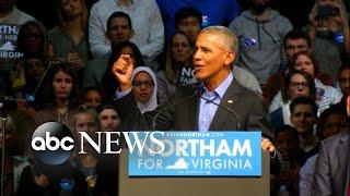 Obama, Bush address divisions in the US under Trump
