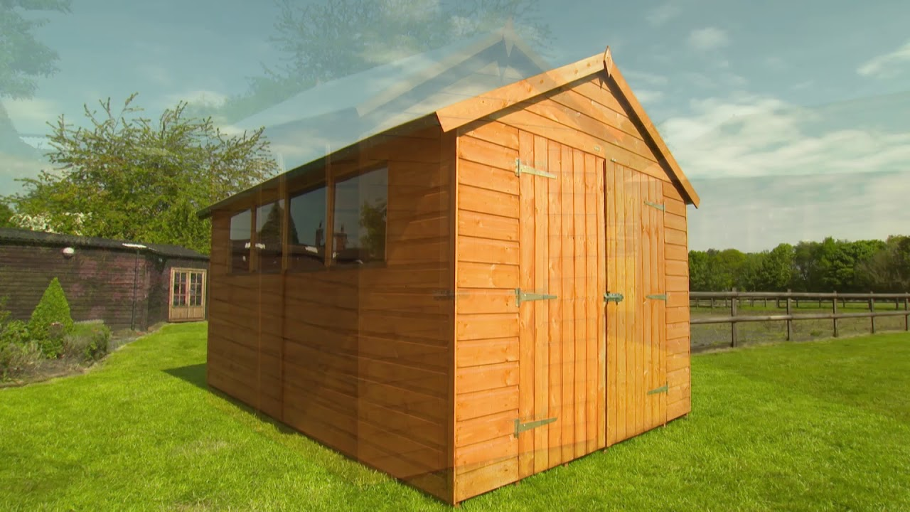 Rowlinson Premier Garden Shed in Honey Brown