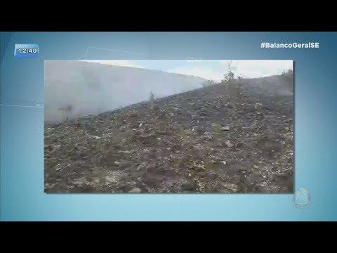 Brigadistas conseguem controlar fogo na Serra Cumprida, no município de Areia Branca - BGSE