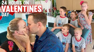 24 Hours with 6 Kids on Valentine's Day 2020