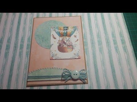 Geburtstagskarte aus dem Luxe-Paper-Block