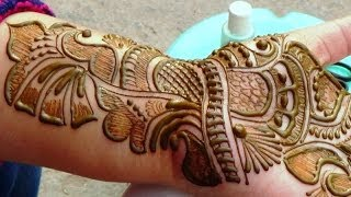 Best Indian Arabic Henna Mehendi 2014:Bridal Makeup Shringar Haathphool Mehndi