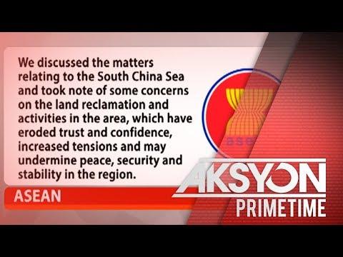 [News5]  ASEAN, nababahala sa land reclamation activities sa WPS