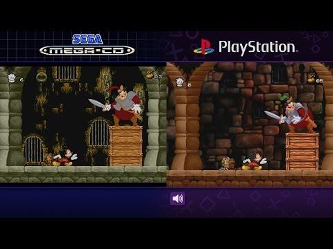 Mickey Mania | Sega Mega CD & PlayStation | Comparison - Dual Longplay