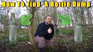 How to find a Bottle Dump Watch me find a NEW ONE tips and hints on how to do it