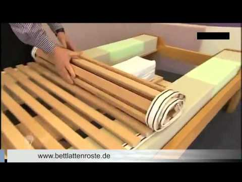Bett Lattenrost richtig einstellen auf Matratzen Härtegrad