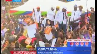 NASA ya kita kambi katika maeneo ya Meru katika kampeini za Raila Odinga