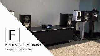 Regallautsprecher im Test (2000€-2600€) - Canton 9K, Elac BS403, B&W 705 S2, Monitor Audio Gold 100!