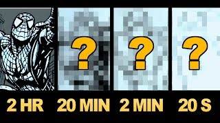 DRAWING SPIDER-MAN In 2 HOURS, 20 MINUTES, 2 MINUTES, 20 SECONDS! ART CHALLENGE!