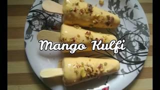 Only 4 Ingredients Easy Mango Kulfi Recipe | No cream | No condensed milk