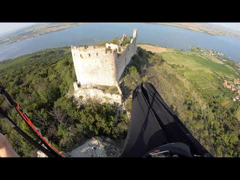 Gorgeous Views Paragliding Over an Old Dilapidated Castle