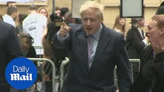Candidates vying to become the next Tory leader arrive at the BBC
