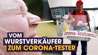 Wurstverkäufer wir Corona-Tester