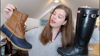 LL Bean Boots Vs. Hunter Boots | Comparison & Review