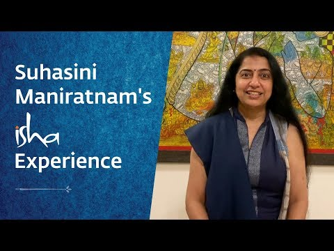 Actor Suhasini Shares Her Inner Engineering Experience - YouTube